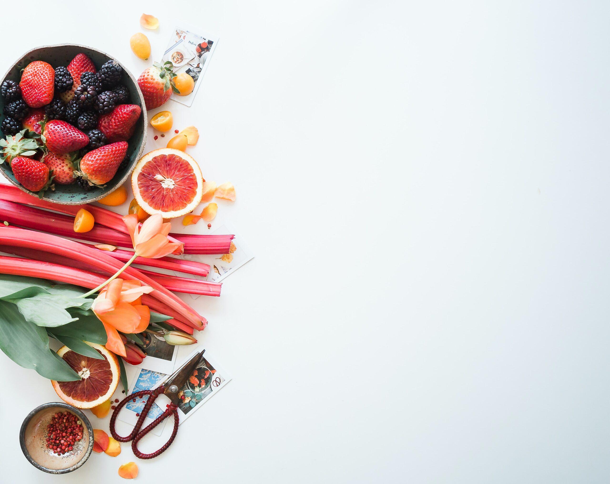 Fruits cut up